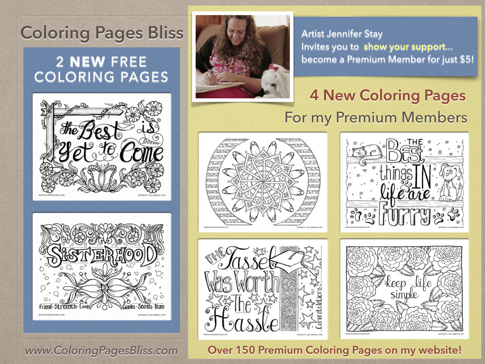 6 New Coloring Pages