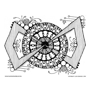Geometric Mandala with Circular and Angular Patterns