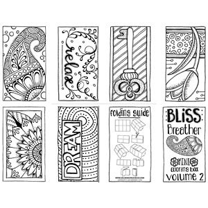 Bliss breather mini coloring book volume 2 for Coloring pages bliss