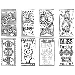 Bliss Breather Mini Coloring Book - Volume 4