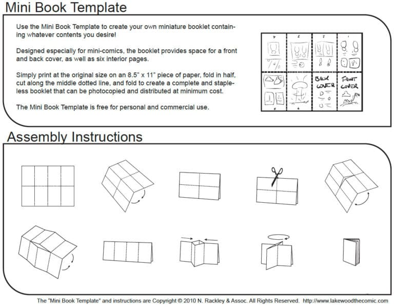 Mini Coloring Book Folding Instructions