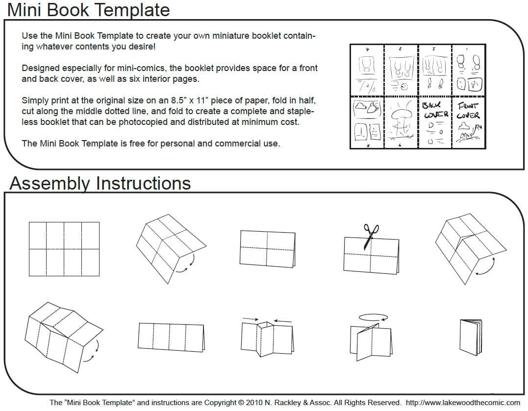 Mini Coloring Book Folding Instructions