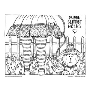 Adorable summer coloring pages for kids - Ayelet Keshet | 300x300