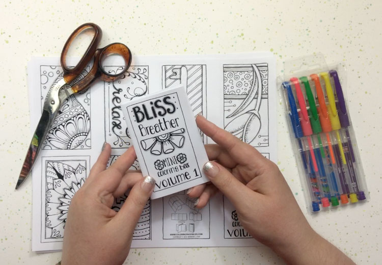 new mini coloring books