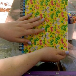 Cute Canson Sketch Pad Covered in Decorative Duct Tape