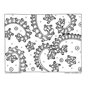 Organic Scalloped Coloring Page