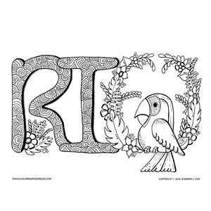 Rio Brazil Parrot Coloring Page