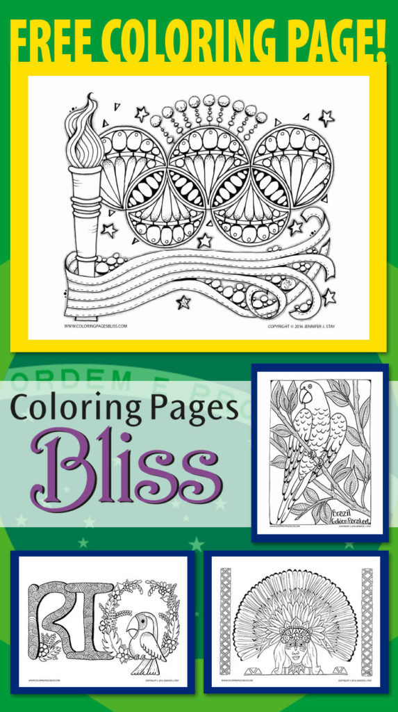 Coloring Pages Inspired by Brazil