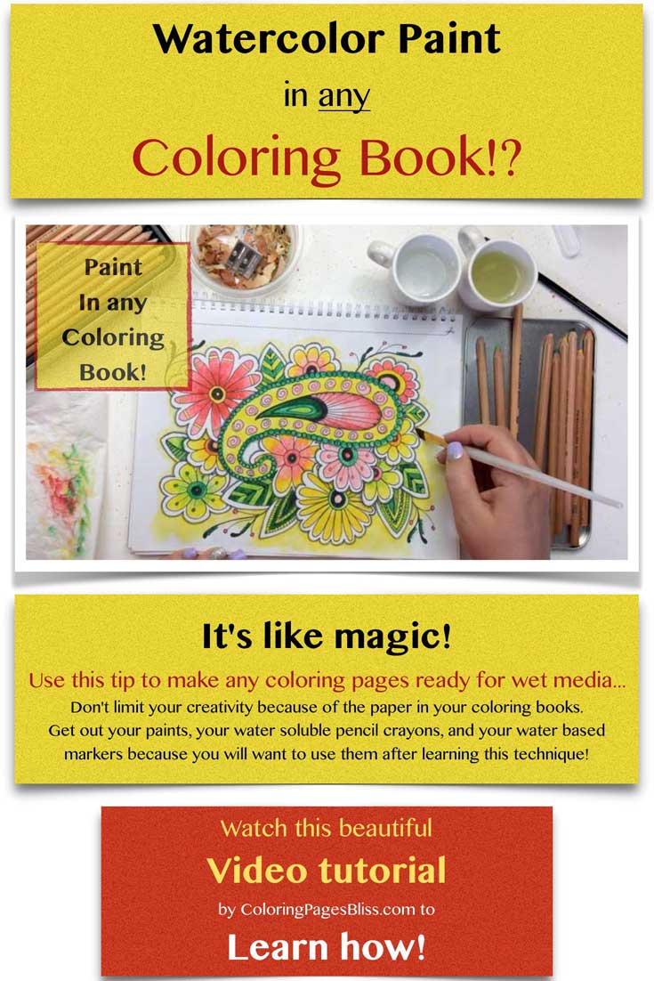 How to Watercolor Paint in Coloring Books