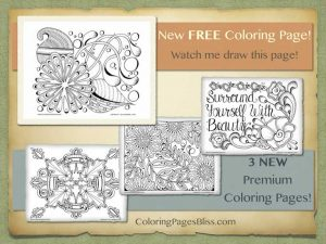 New Autumn Coloring Pages