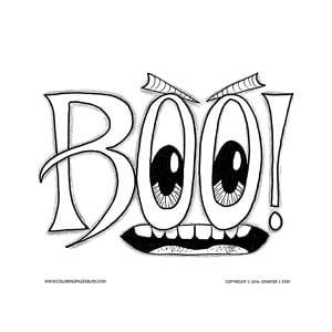BOO! Halloween Coloring Page