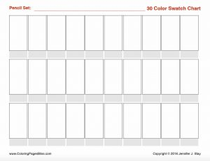 Generic 30 Swatches Color Chart