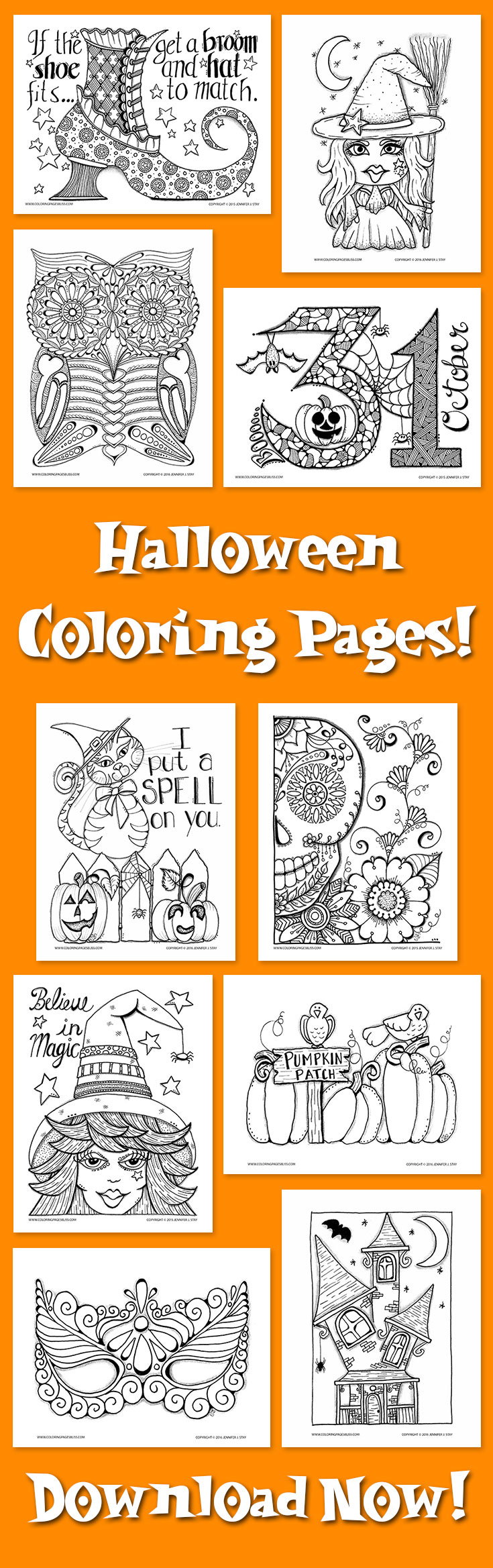 Download Halloween Coloring Pages
