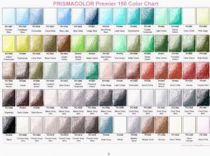 Prismacolor Premier 150 Colored Charts 2