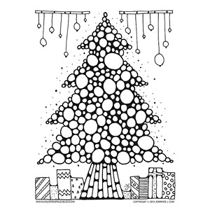 Christmas tree coloring art for Coloring pages bliss