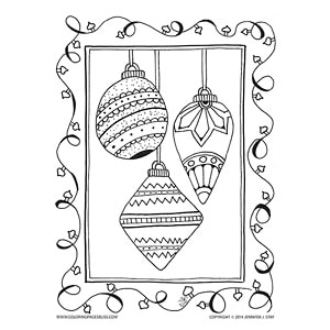 Christmas Ornaments for Coloring