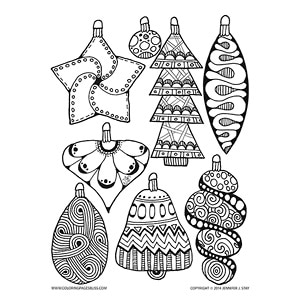 Christmas Bulbs for Coloring