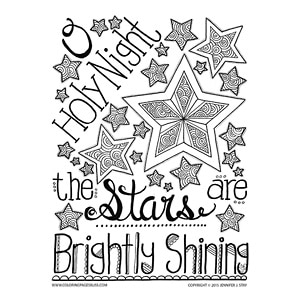 O Holy Night Christmas Coloring Page