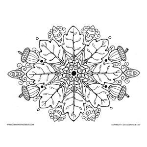 Fall Acorns Mandala