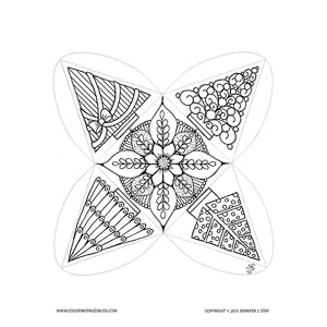 Christmas Tree Ornament Coloring Project