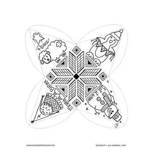 Christmas Bulb Characters Coloring Project