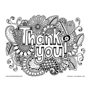 """Thank You"" Coloring Page"