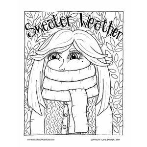 Sweater Weather Fall Coloring Page