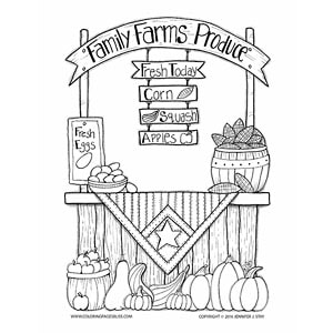 Family Farms Produce Coloring Page