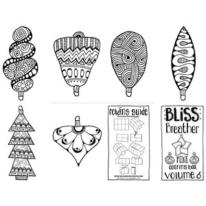 Christmas Ornaments Mini Coloring Book
