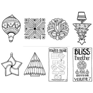 Christmas Bulbs Mini Coloring Book