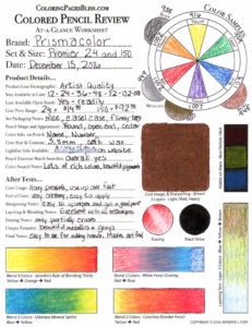 Prismacolor Premier Review Chart