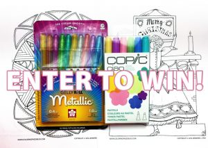 Win Copic Markers and Sakura Gelly Roll Gel Pens
