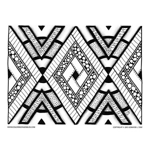 geometric coloring design - Geometric Coloring Pages