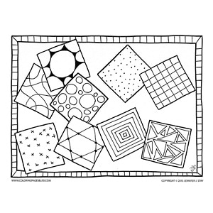 Simple Squares Free Coloring Sheet