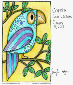 Crayola Color Escapes Colored Parrot Art