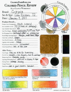 Crayola Color Escapes Review Chart