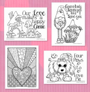 Featured Valentine's Coloring Pages