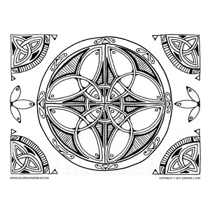 Celtic Mandala to Color