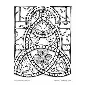Celtic Inspired Coloring Design