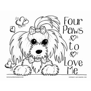 Adorable Maltese Dog Valentine