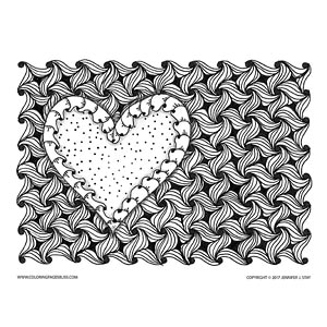 Scalloped Heart Valentine