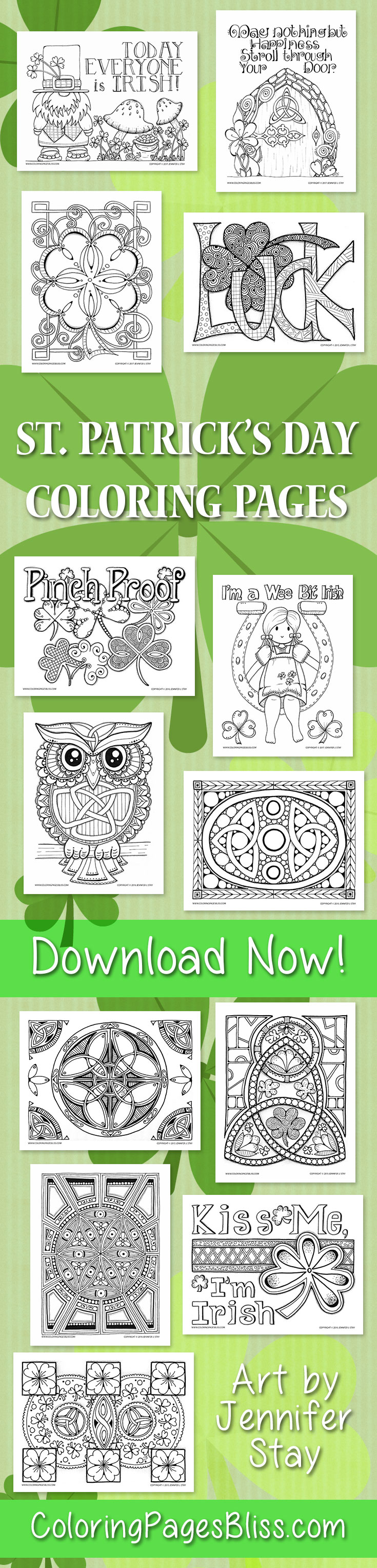 St. Patrick's Day Coloring Pages