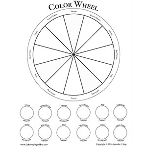 Free Color Wheel Worksheet