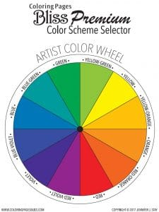 Coloring Pages Bliss - Premium Color Scheme Selector