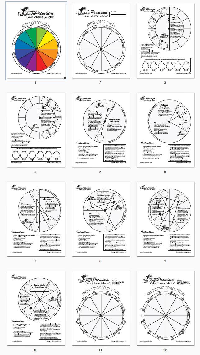 Premium Color Scheme Selector Thumbnails