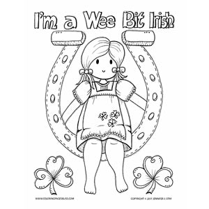 Irish Doll Coloring Page