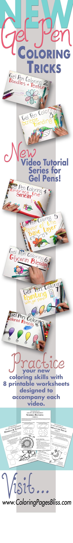 Gel Pen Coloring Series