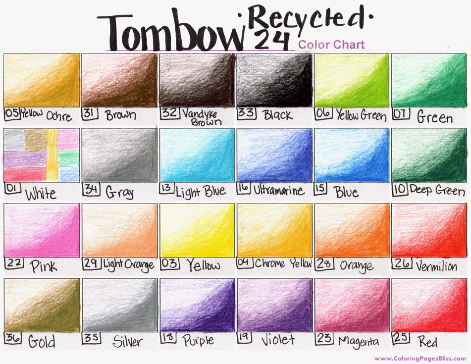 Tombow Recycled Colored Pencils Review