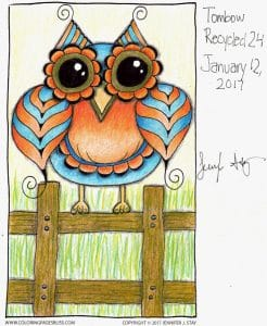 Tombow Recycled Colored Pencils Owl