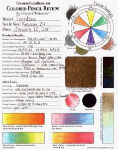 Tombow Recycled Colored Pencils Review Chart
